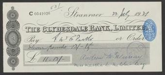 Picture of Clydesdale Bank, Ltd., Stranraer, 19(39)