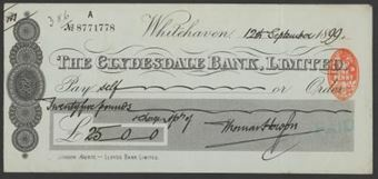 Picture of Clydesdale Bank, Ltd., Whitehaven, 18(99)