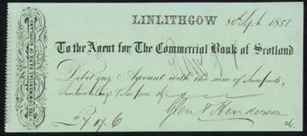 Picture of Agent for the Commercial Bank of Scotland, Linlithgow, 18(58)
