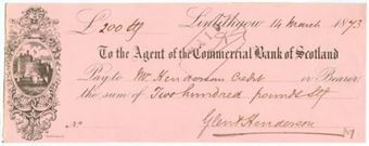 Picture of Agent of the Commercial Bank of Scotland, Linlithgow, 18(73)