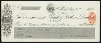 Picture of Commercial Bank of Scotland Ltd., Wishaw, 190(6)