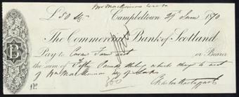 Picture of Commercial Bank of Scotland, Campbeltown, 18(70)