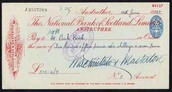 Picture of National Bank of Scotland Ltd., Anstruther, 19(37)