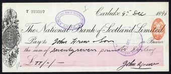 Picture of National Bank of Scotland Ltd., Carluke, 18(96)