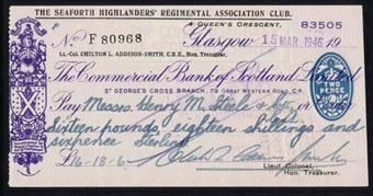 Picture of National Bank of Scotland Ltd., Glasgow, St. George's Cross Branch, 19(46). special printing