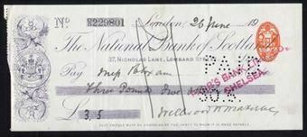 Picture of National Bank of Scotland Ltd., London, 19(00)