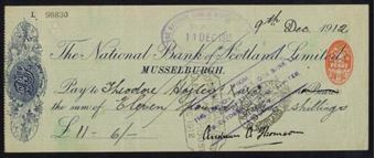 Picture of National Bank of Scotland Ltd., Musselburgh, 19(12)