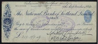 Picture of National Bank of Scotland Ltd., Oban, 19(19)