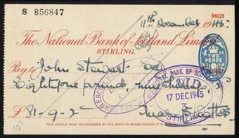 Picture of National Bank of Scotland Ltd., Stirling, 19(45)