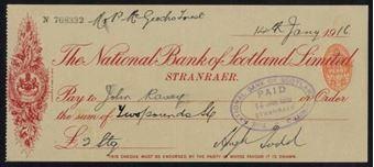 Picture of National Bank of Scotland Ltd., Stranraer, 19(16)