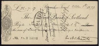 Picture of National Bank of Scotland, Berwick on Tweed, 18(80), imprint at lower edge