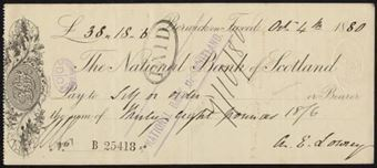 Picture of National Bank of Scotland, Berwick on Tweed, 18(80), imprint in centre