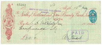 Picture of North of Scotland Bank Ltd ovptd on N. of Scotland Town & County , Alyth, 192(4)