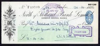 Picture of North of Scotland Bank Ltd., Harbour Branch, Buckie, 193(6),