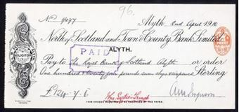 Picture of North of Scotland and Town & County Bank Ltd., Alyth, 19(10)