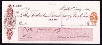 Picture of North of Scotland and Town & County Bank Ltd., Alyth, 19(11)