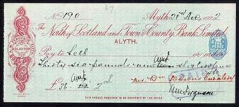 Picture of North of Scotland and Town & County Bank Ltd., Alyth, 19(21)