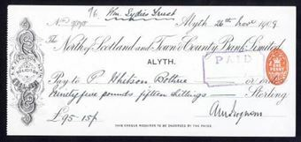 Picture of North of Scotland and Town & County Bank Ltd., Alyth, 190(9)