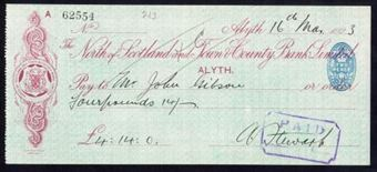 Picture of North of Scotland and Town & County Bank Ltd., Alyth, 192(3)