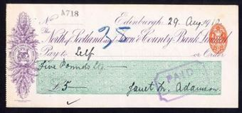 Picture of North of Scotland and Town & County Bank Ltd., Edinburgh, 19(10)