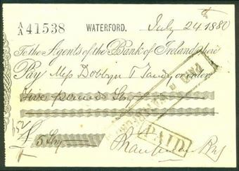 Picture of Agents of the Bank of Ireland, Waterford, 18(80)