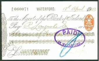 Picture of Agents of the Bank of Ireland, Waterford, 19(03)