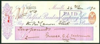 Picture of Belfast Banking Co. Ltd., Moville, 18(90)