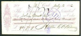 Picture of Munster Bank Ltd., Cork, 188(2)