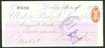 Picture of Ulster Bank Ltd., Pembroke Branch, 128 Lower Baggot Street,  Dublin, 18(94)