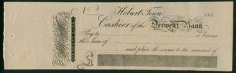 Picture of Cashier of the Derwent Bank, Hobart Town, Tasmania, 183-