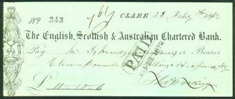 Picture of English, Scottish & Australian Chartered Bank, Clare, 186(71)
