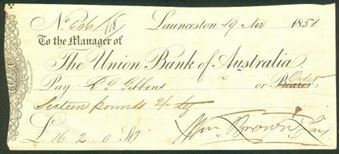 Picture of Union Bank of Australia, Launceston, 18(51)