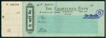 Picture of Chartered Bank, Madras, 19-