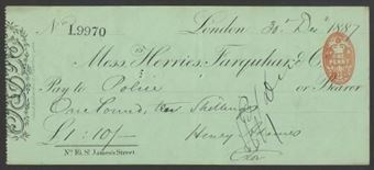 Picture of Messrs. Herries, Farquhar & Co., No.16 St. James's Place, London, 188(6)
