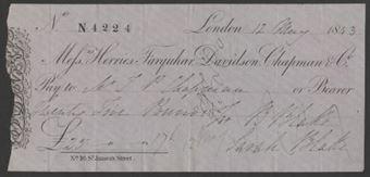 Picture of Messrs. Herries, Farquhar, Davidson, Chapman & Co., No.16 St. James's Place, London, 184(3)