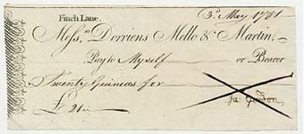 Picture of Messrs Dorriens Mello & Martin, Finch Lane, (1782)