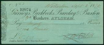 Picture of Gurneys, Birkbecks, Barclay & Buxton, Aylsham, 18(78), Type 2a