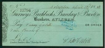 Picture of Gurneys, Birkbecks, Barclay & Buxton, Aylsham, 18(80), Type 2b