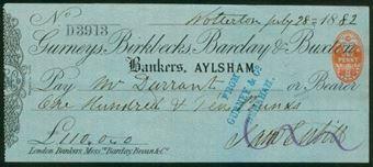 Picture of Gurneys, Birkbecks, Barclay & Buxton, Aylsham, 18(82), Type 3a