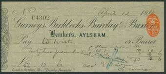 Picture of Gurneys, Birkbecks, Barclay & Buxton, Aylsham, 18(84), Type 4a