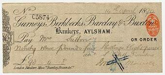 Picture of Gurneys, Birkbecks, Barclay & Buxton, Aylsham, 18(90), Type 4d