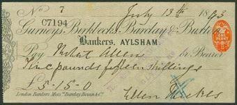 Picture of Gurneys, Birkbecks, Barclay & Buxton, Aylsham, 18(93), Type 4b