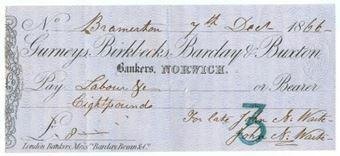 Picture of Gurneys, Birkbecks, Barclay & Buxton, Norwich, 18(67), type 2c