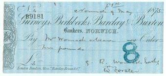 Picture of Gurneys, Birkbecks, Barclay & Buxton, Norwich, 18(68), type 3b