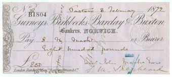 Picture of Gurneys, Birkbecks, Barclay & Buxton, Norwich, 18(72), type 2b