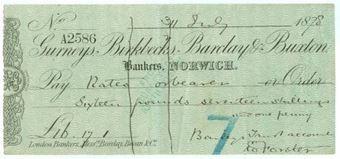 Picture of Gurneys, Birkbecks, Barclay & Buxton, Norwich, 18(78), type 6b