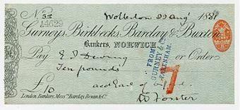 Picture of Gurneys, Birkbecks, Barclay & Buxton, Norwich, 18(81), type 6d