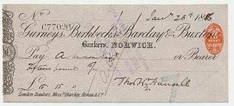 Picture of Gurneys, Birkbecks, Barclay & Buxton, Norwich, 18(86), type 5c