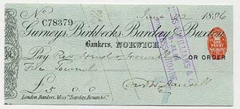 Picture of Gurneys, Birkbecks, Barclay & Buxton, Norwich, 18(86), type 7b