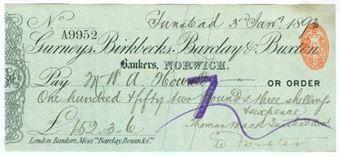 Picture of Gurneys, Birkbecks, Barclay & Buxton, Norwich, 18(93), type 7b